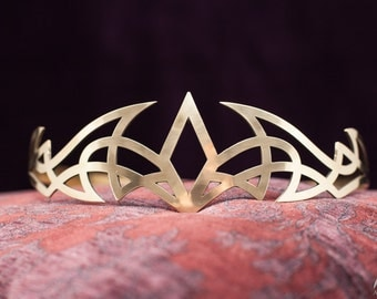 20% DISCOUNT! Medieval Brass Circlet; Handmade Crown; Tiara