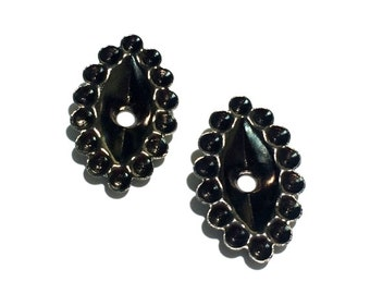 5 Rhinestone Setting, Black Ox, 22x14 mm