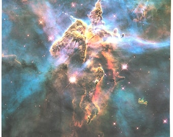 Mystic Mountain Hubble Photograph 35 x 26 inches (89 x 66 cm) on Cotton Sateen Fabric