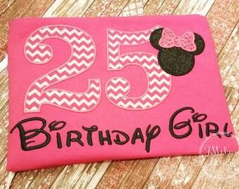 Disney-Inspired Birthday Shirt - 16th - 21st - 40th - 50th - 60th - Custom Birthday Tee 925