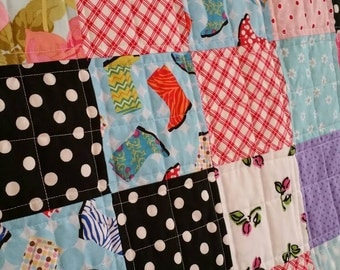 Baby Girl Quilt Pink, Blue