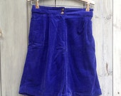 Vintage shorts | Ivy royal blue soft corduroy high-waisted shorts