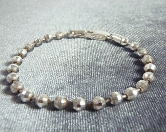Sterling Silver Disco Ball Bracelet B11
