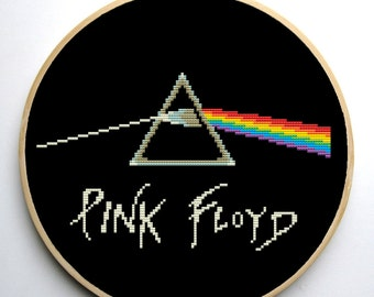 Cross stitch pattern PDF - Rock Music Band Logo - Pink Floyd - Modern Music Pattern Instant Download