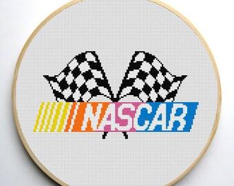 Nascar cross stitch pattern PDF Instant Download