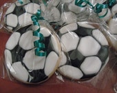 Birthday, Sports, Party Soccer Decorated Sugar Cookies - 1 Dozen