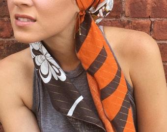 Cotton Autumn Head Scarf Hair Wrap