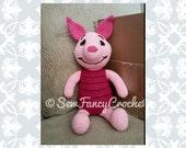 Piglet, Stuffed Piglet, Stuffed Animal, Crochet Piglet, Giant Stuffed Animal, Winnie the Pooh decor, Winnie the Pooh Stuffed Animals, Toys