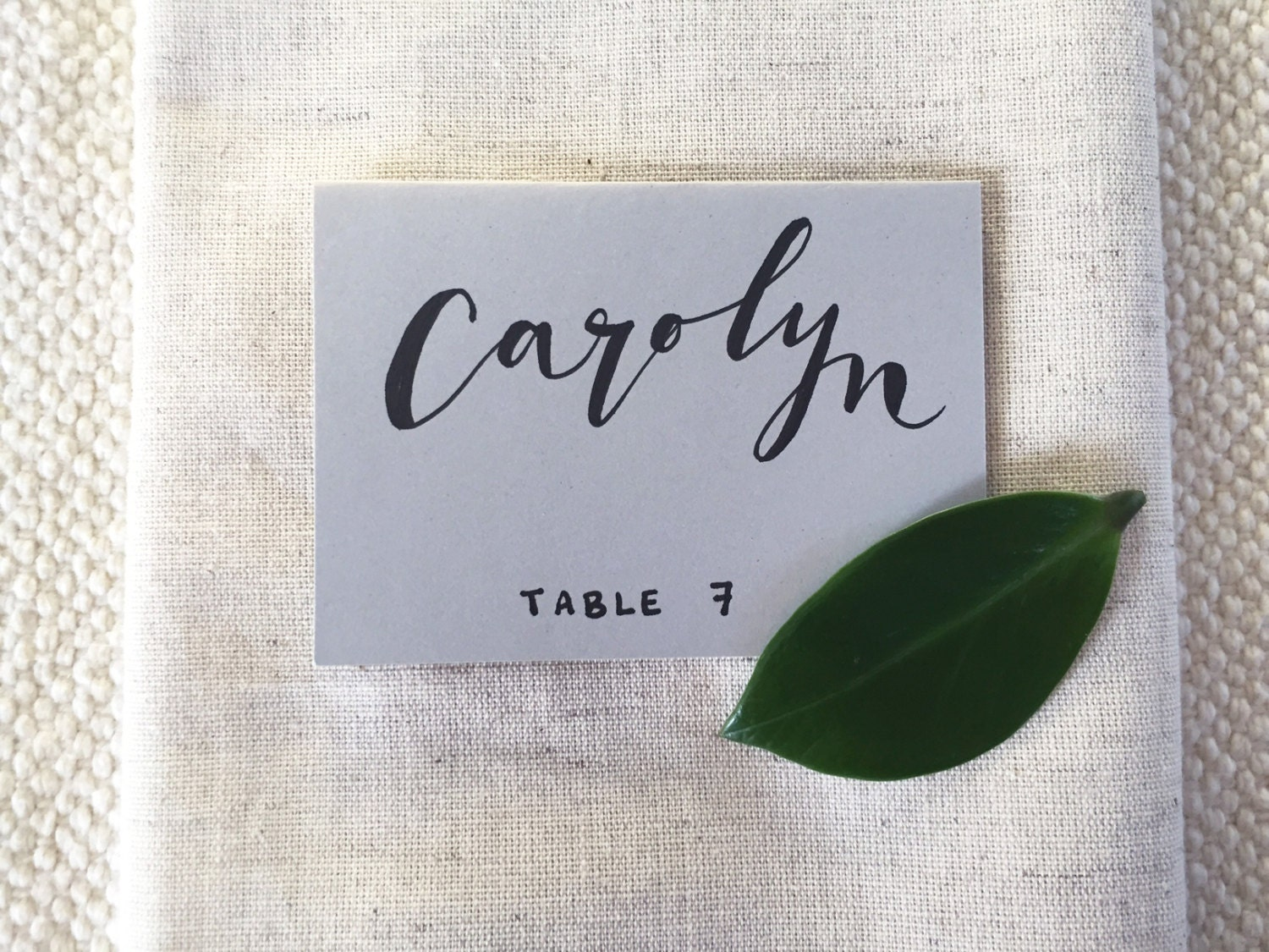 handwritten calligraphy wedding place cards escort cards for dinner party anniversary or shower