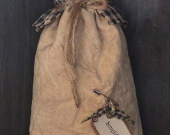 Primitive Prairie Doll with black and caramel dress