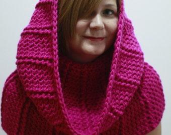 Pink hood scarf