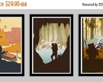 50% OFF Original Trilogy Poster Collection - 8.5x11
