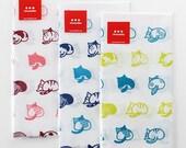 108 cat butts Japanese Tenugui(pink, blue, yellow)
