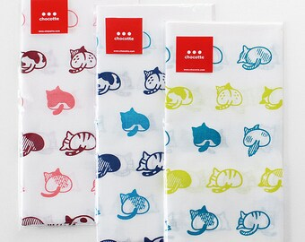 108 cat butts Japanese Tenugui(pink, blue, yellow)
