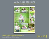 8 x 10 Photo Collage Template - 1