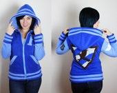 House Raven  -- Handmade Anti-Pill Fleece Hoodie / Sweatshirt