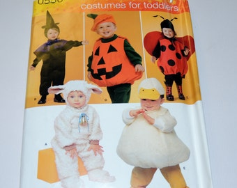 Uncut 6 mo to size 4 Toddler Halloween Costume Pattern Simplicity 0550