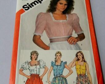 Sz 10 Simplicity 5939 Blouse pattern Uncut