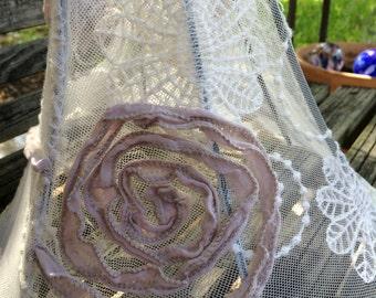 Mauve rose lampshade