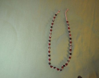 A Simple Vintage Necklace of Black Jet Beads