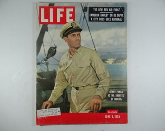 "1955 Life Magazine, June 6,  Henry Fonda in ""Mr Roberts"""
