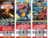 Blaze and the Monster Machines Birthday Invitation, Blaze, Monster Truck Invite