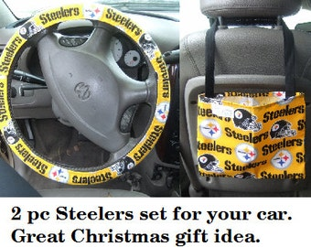 2 pc Steelers set for car