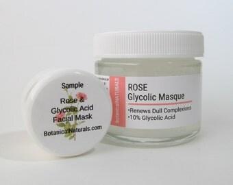 SAMPLE,  Glycolic & Rose Facial Mask, Natural Skin Care