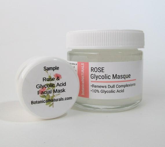 Glycolic face mask