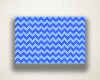 Blue Chevron Canvas Art Print, Chevron Pattern Wall Art, Blue Canvas Print, Close Up Wall Art, Canvas Art, Canvas Print, Home Art, Wall Art