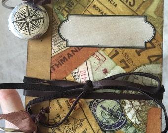 Journal-Mini Journal-Smash Book-Junk Journal-Memory Book-Album-Trip-Travel Journal