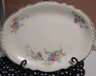 Homer Laughlin 'Virginia Rose'  13 1/4 inch platter