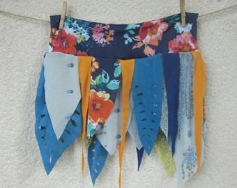 jungle festival fringe skirt, pixie, tribal, festival clothing, elastic waist, plus size
