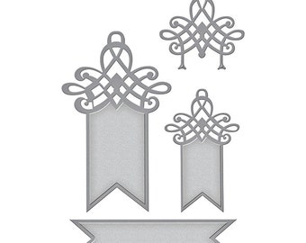 Spellbinders - Shapeabilities - Wedding Collection - Becca Feeken - Decorative Swallowtail Tags
