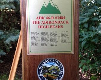 Adirondack High Peaks 46-R Plaque