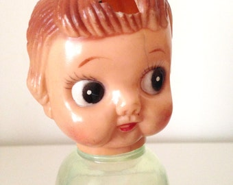 Vintage Big Eye Girl, Plastic Bottle