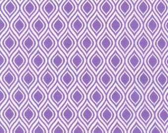 Violet Ogee - Robert Kaufman - Metro Living - Geometric Fabric - Purple and White Fabric - Designer Fabric -  Sold in 1/2 Yard Increments