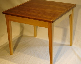 "Child's Table, 22"" square, 19-1/4"" high, Black Walnut top, Pine base, kids"