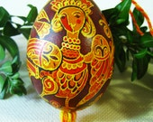 Ukrainian pysanka - Easter egg - Bird Woman