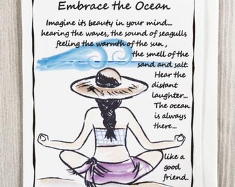 Embrace the Ocean - Inspirational Greeting Card