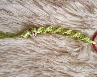 Phunky Swirly Apple Green Keychain