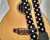 Black Polka Dot guitar strap