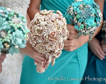 DEPOSIT on your Custom Made To Order Bridal Brooch Bouquet