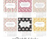 50% OFF 2016 Printable Calendar for Book Lovers Instant Download Calendar - 5x7 Calendar with Novels Incipit - Inspirational Quotes Calendar