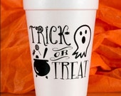 Trick or Treat Ghost Halloween Cups
