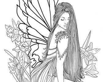 Fairy of March digi stamp by Lee Seed