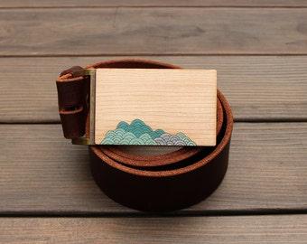 Ocean gift, Gift for Guys, Belt Buckle, Men's Belt Buckle, Surfer gift, Modern Belt Buckle, Beach gift, Nautical Belt Buckle