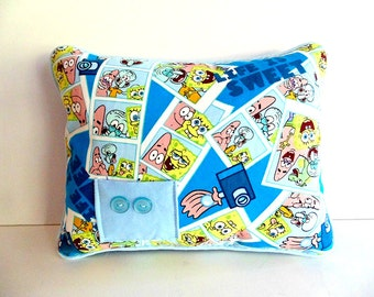 Spongebob Pillow ,  Boys Tooth Fairy  Pillow, Spongebob Square Pants, Boys Personalized Pillow