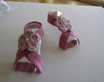 Baby barefoot sandals,   Baby sandals, newborn sandals, toddler sandals, baby girl sandals, elastic sandal