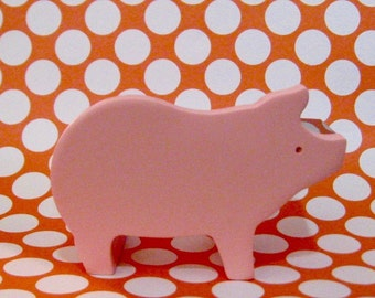 """SALE Washi Tape Double Roll Tape Dispenser by """"Mas Cut"""" Small Pink Pig Includes Tape"""
